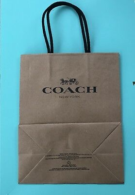 Set of 1 Coach  Paper Shopping Bags 7.75 x 9.75 NEW