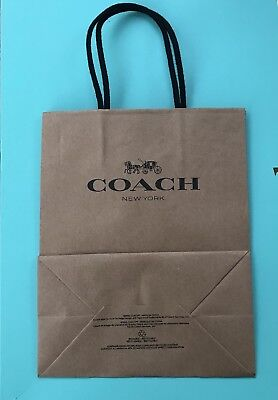 Set of 3 Coach  Paper Shopping Bags 7.75 x 9.75 NEW