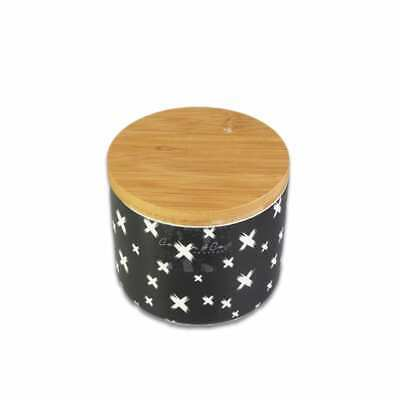 Sectional Canister with Mark Pattern Ceramic Kitchenware Food Storage Organizer