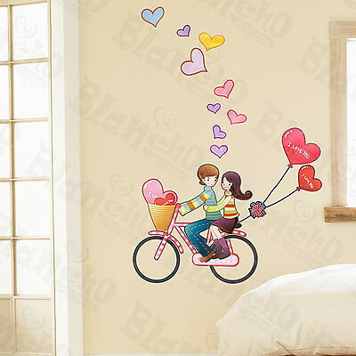 Love Biking - Large Wall Decals Stickers Appliques Home Decor