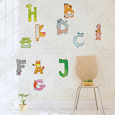 Animal Letters - Large Wall Decals Stickers Appliques Home Decor