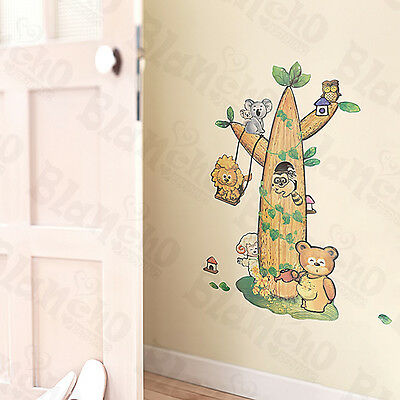 Animal Tree Friends - Large Wall Decals Stickers Appliques Home Decor