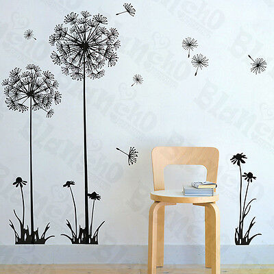 Flying Dandelion - Large Wall Decals Stickers Appliques Home Decor