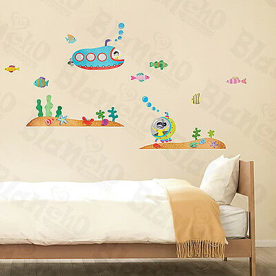 Submarine - Large Wall Decals Stickers Appliques Home Decor