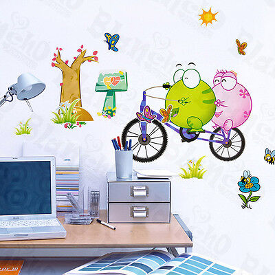 Bicycling 2 - Large Wall Decals Stickers Appliques Home Decor