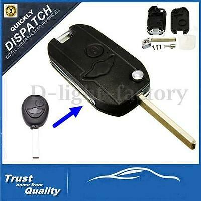 For Bmw Mini Cooper R50 R53 S One 2 Buttons Remote Flip Key Fob Case Conversion