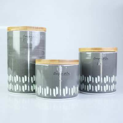 Wightman Canister with Paint Pattern Ceramic Kitchenware Food Storage Organizer