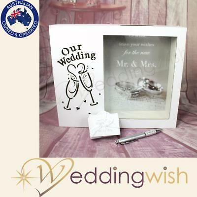 Our Wedding LED Light Up Wishing Well Box, Card Keeper, Shadow Box