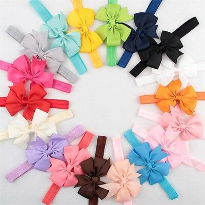 16PCS Kids Girl Baby Bow Flower Headband Toddler Hair Band Headwear Accessories