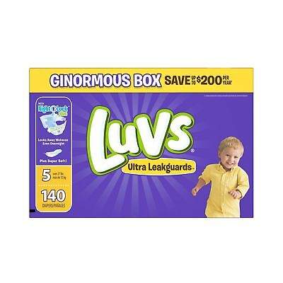 Luvs Ultra Leakguards Diapers Size 5 140 Count