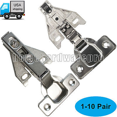 Mepla Face Frame Cabinet Hinges Mounting Plates Nickel