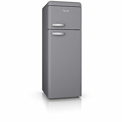 Swan Products Retro Top Mounted Fridge Freezer - Grey (Model No SR11010GRN)