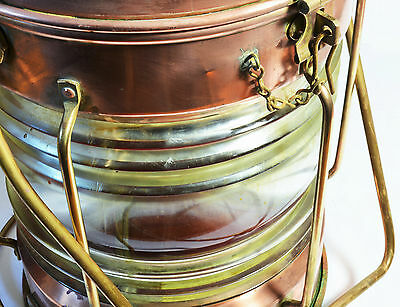 Antique brass and copper ship's Not Under Command lantern, Murray & Co, Glasgow