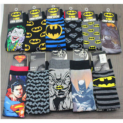 Mens Marvel DC Superman Batman Joker Long Cotton Socks