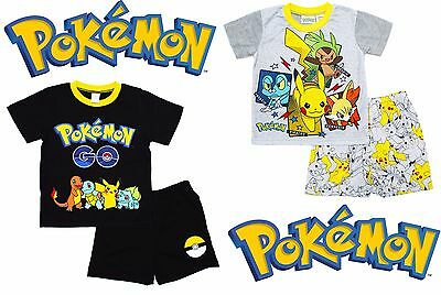 NEW Sz 6~12 KIDS PYJAMAS PJ SUMMER POKEMON GO BOYS TEES T-SHIRTS CHRISTMAS GIFT