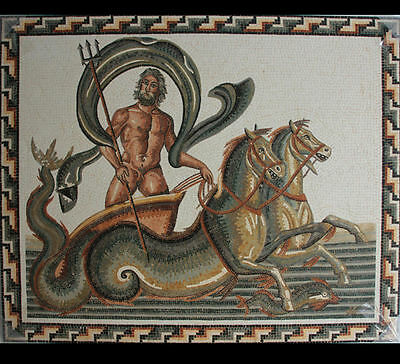 Roman style Mosaic Panel with Triumph Of Neptune