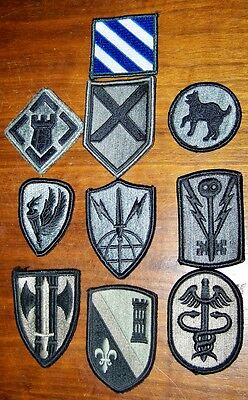 Original Us Army Patch Acu Lot Of 10 Patches
