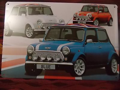 mini cooper  NOVELTY  MANCAVE SIGN PLATE 30 CM BY 15 CM