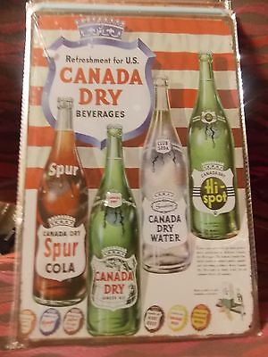 canada dry  tin metal sign MAN CAVE brand new or for the  bar  20 by 30 cm