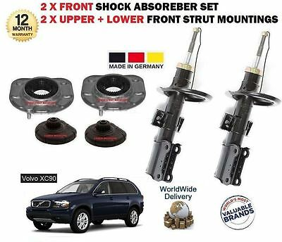 For Volvo Xc90 2002-  2 X Front Strut Mounting Set + 2X Front Shock Absorber Kit