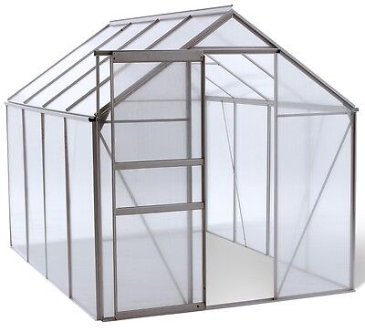 Ogrow WALK-IN 6' X 8' Lawn and Garden Greenhouse with Heavy Duty Aluminium Frame