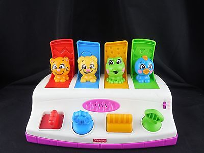 Mattel Fisher Price Bobble & Giggle Poppin' Pals Pop Up Musical Animals Toy B2