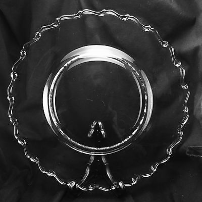 """Fostoria CENTURY 10 1/4"""" Large Dinner Plate Depression Glass - 2 Available"""