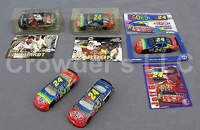Set of 5 Vintage NASCAR Collectible Miniature Cars Action Packed Brickyard 400