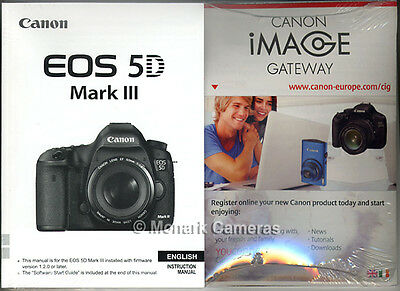 Canon EOS5D MkIII Instruction Book & CD, More NEW & SEALED Camera Manuals Listed