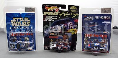 Set of 3 Vintage NASCAR Collectible 1:64th Scale Cars: Pepsi Star Wars ProRacing