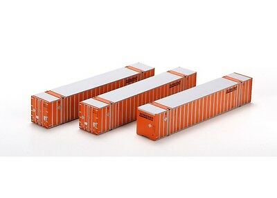 Athearn ATH72547 HO Scale RTR 53' Stoughton Container SNLU / Orange #3 Pack (3)