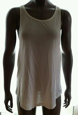 3783e15c2126 NIKE Womens Dri-Fit Club Training Tank Top White Size L XL Style 811540