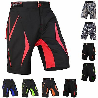 MTB Shorts Men's Bicycle Pants Detachable Compression Padded Short Inculded