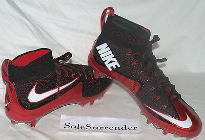 Nike Vapor Untouchable TD - CHOOSE SIZE - 698833-016 White 2 Red Flyknit High