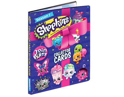 SHOPKINS Season Series 7 Collector Trading Cards Starter Pack - Album + 2 Packs