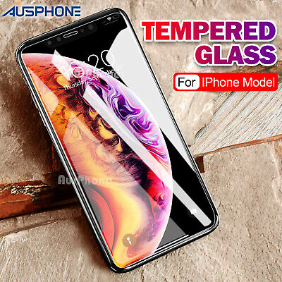 2x Scratch Resist Tempered Glass Screen Protector Apple iPhone XS Max 8 7 Plus