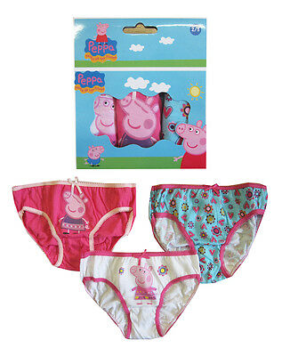 "Girls Toddler Infants ""Peppa Pig"" Briefs Pants Underwear Character Pants"