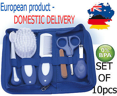 BABY GROOMING KIT SET 10 PCS. Newborn Nail Hair Health Care Body BPA FREE Infant