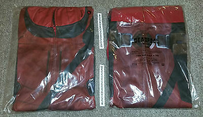 New Official Marvel Deadpool 2015 Film Promo Full Face Hoodie Hoody Size XL Cos
