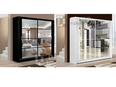 Sliding Door Wardrobes DAKOTA With Mirrors / Multiple colours and sizes