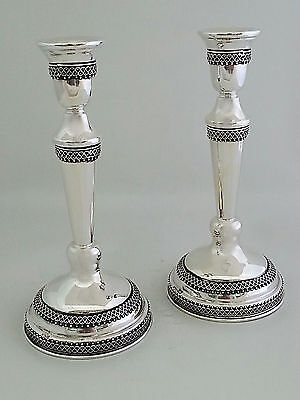925 Sterling silver filigree handmade candlesticks