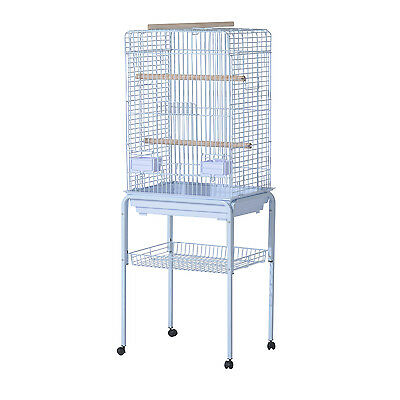 PawHut 1.5m Birds Cage Large Play Perch Stand Parrot Macaw Pet Open Top Rolling