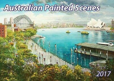 Australian Painted Scenes 2017 12 Month A4 Wall Calendar - NEW from Topmill