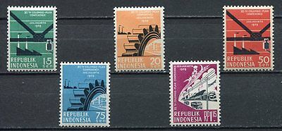 38156) INDONESIA 1959 MNH** Colombo conference 5v