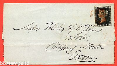 """SG. 2 c. A1 (2) h. AS46. """" LD """". 1d black. Plate 8. A fine used example."""