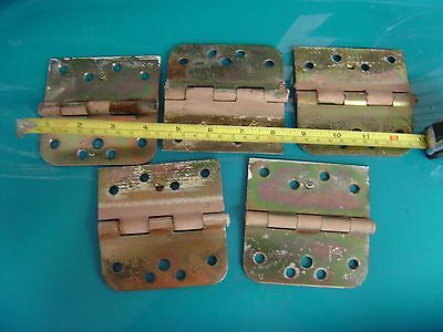 Architectural Salvage Antique steel hinges lot vintage old -steampunk