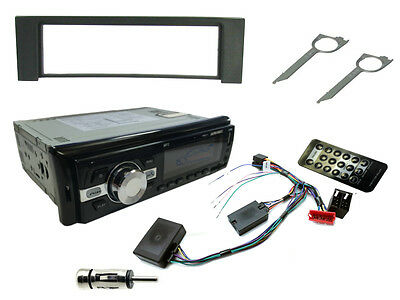 AUDI A4 00-06 Car Stereo Head Unit Radio + Steering Controls + Bluetooth AUX USB