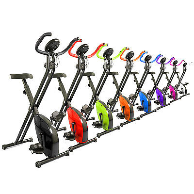 Magnetic X-Bike Exercise Bike Folding Fitness Cardio Workout Weight Loss - Red