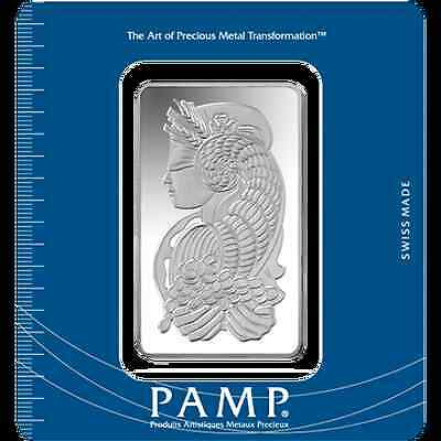 100g PAMP Suisse Silver Bar 999.0 Fine Silver 'Lady Fortuna' design