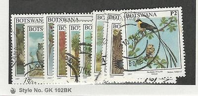 Botswana, Postage Stamp, #620//634 Used, 1997 Birds (10 Different)